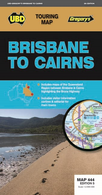 Brisbane to Cairns Map 444 5th