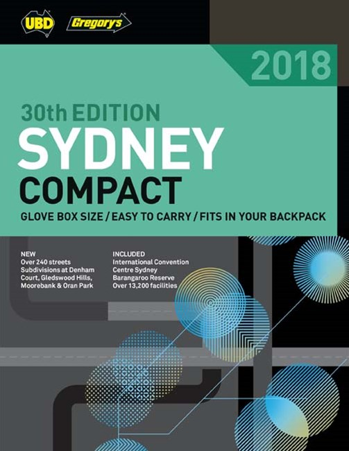 Sydney Compact Street Directory 2018 30th