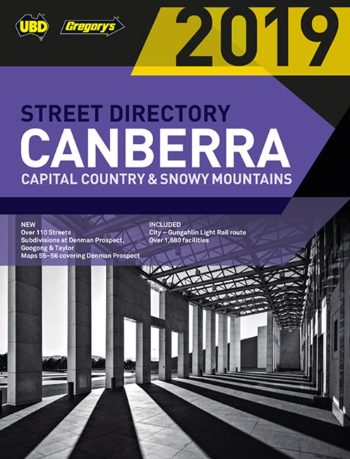 Canberra Capital Country & Snowy Mountains Street Directory 2019 23rd