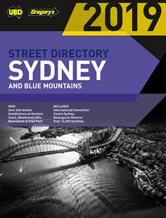 Sydney & Blue Mountains Street Directory 2019 55th by UBD Gregory's (9780731931613) - PaperBack - Travel Maps & Street Directories