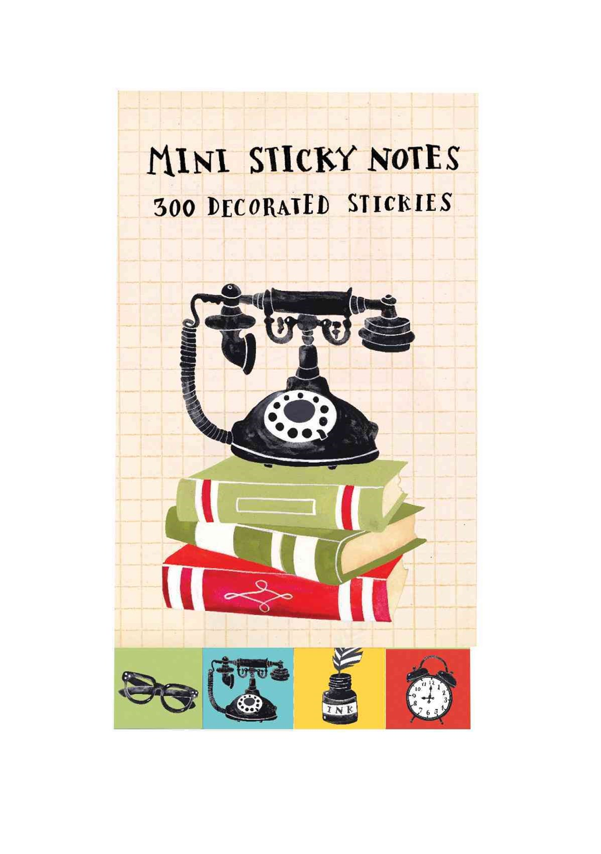 Vintage Telephone Mini Sticky Notes