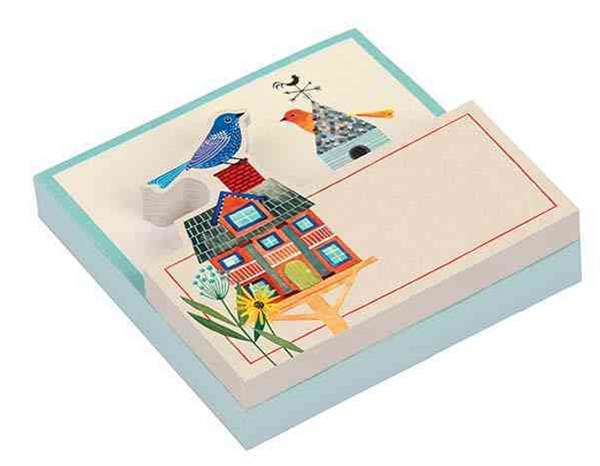 Avian Friends Birdhouse Shaped Pad