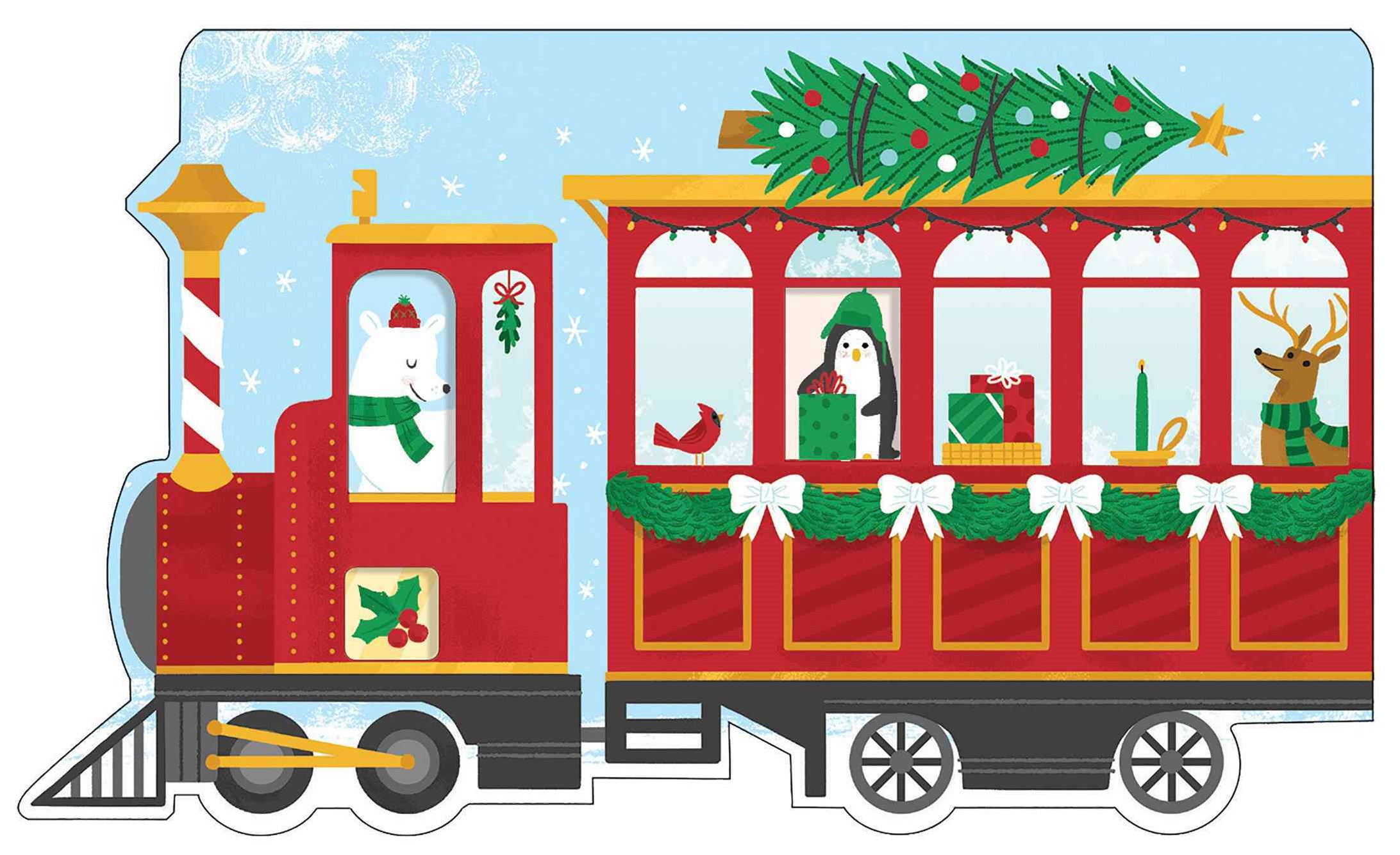 Christmas Train Shaped Cover Sticky Notes