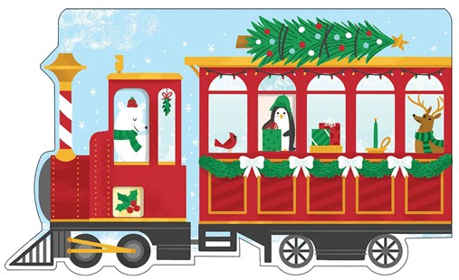 Christmas Train Shaped Cover Sticky Notes - Office Sticky Notes