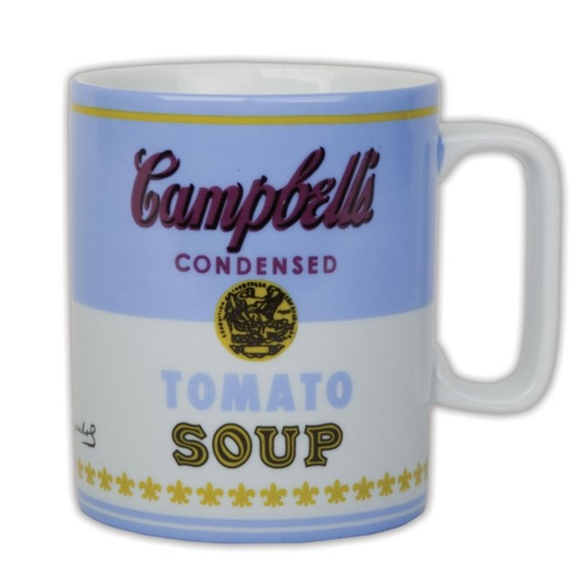 Andy Warhol Campbell's Soup Blue Mug