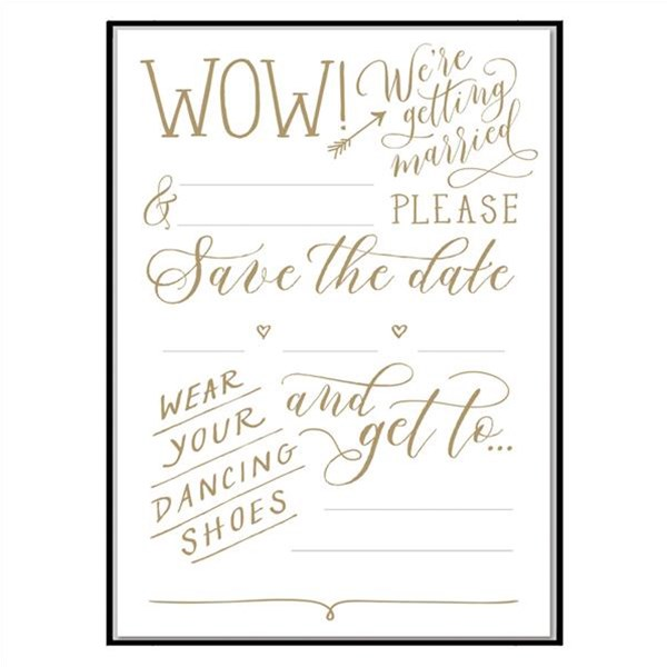 Cheree Berry Love Lettering Save the Date Notecards
