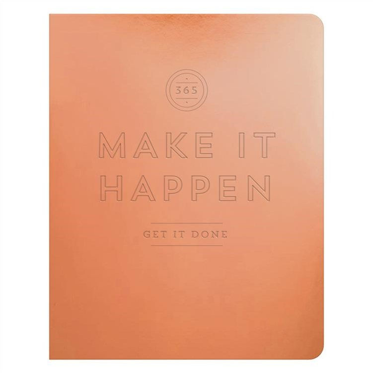 Make It Happen Copper Deluxe Pocket Undated Planner