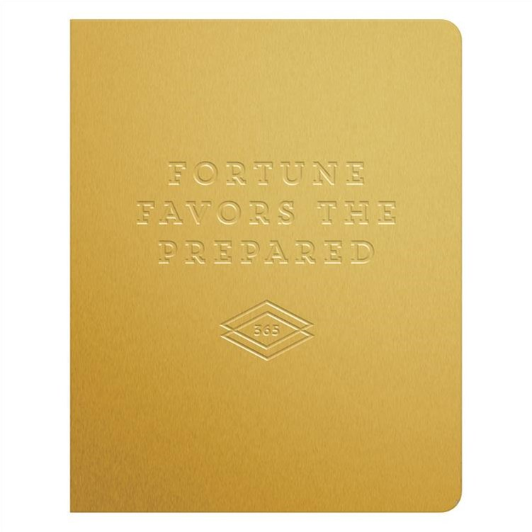 Fortune Favors the Prepared Gold Deluxe Pocket Undated Planner