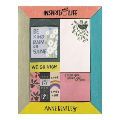 Anne Bentley Inspired Life Desktop Sticky Notes Box
