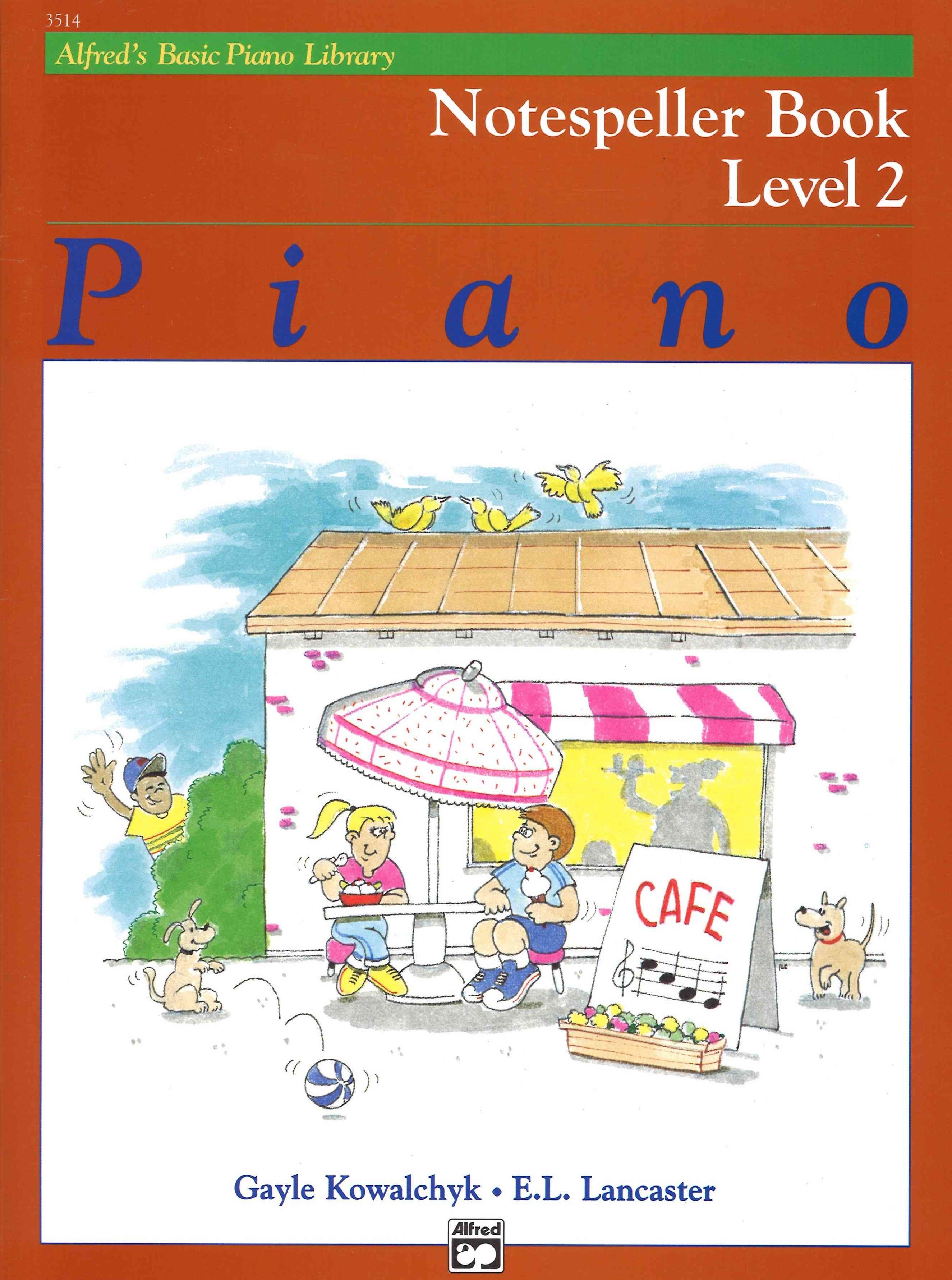 Alfred's Basic Piano Course - Notespeller Book