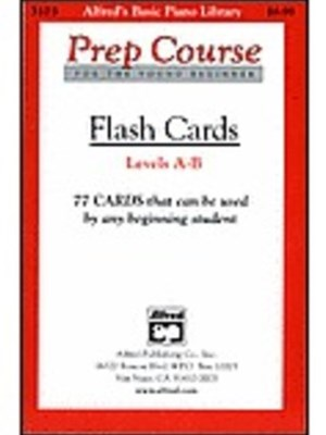 Alfred's Basic Piano Prep Course Flash Cards, Levels a and B
