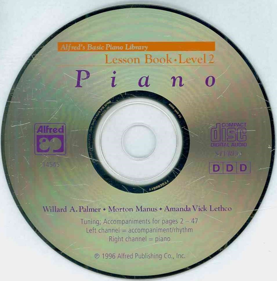 Alfred's Basic Piano Course CD for Lesson Book