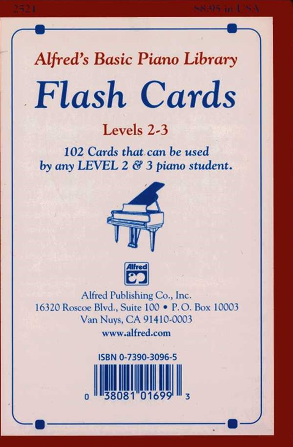 Alfred's Basic Piano Course Flash Cards, Levels 2-3