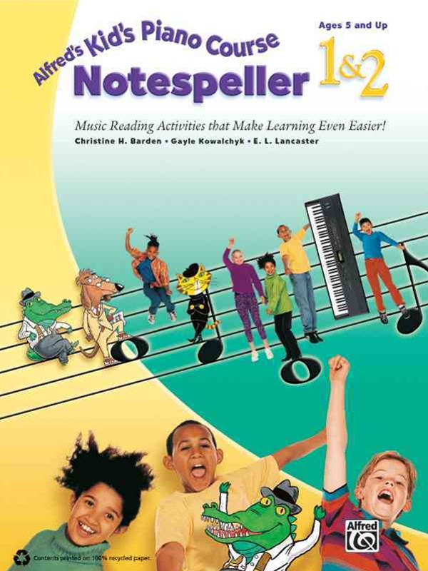 Alfred's Kid's Piano Course Notespeller, Bk 1 And 2