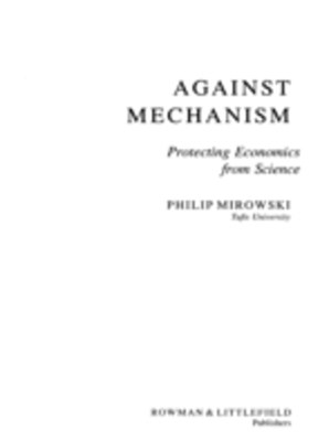 (ebook) Against Mechanism