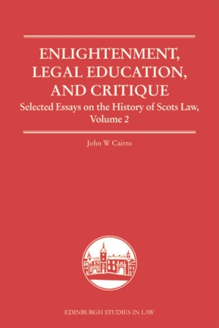 (ebook) Enlightenment, Legal Education, and Critique