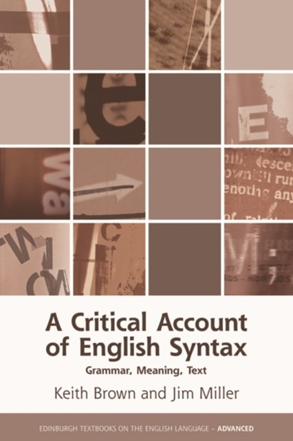 Critical Account of English Syntax