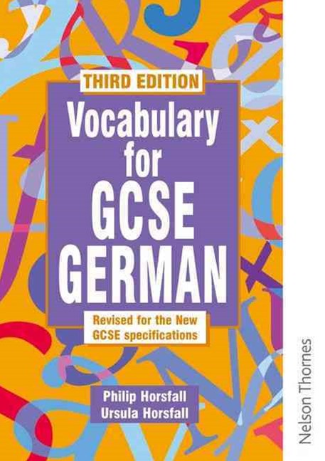 Vocabulary for GCSE German