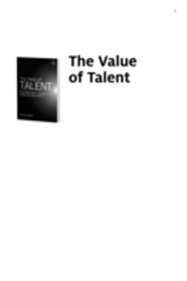 (ebook) Value of Talent