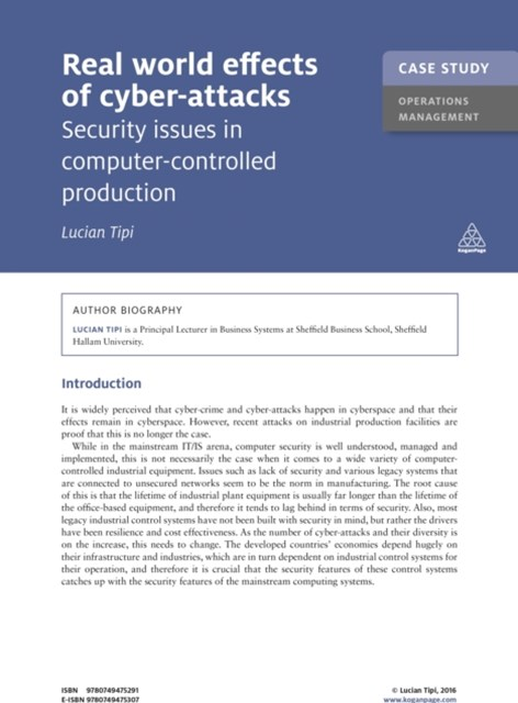 (ebook) Case Study: Real World Effects of Cyber-Attacks