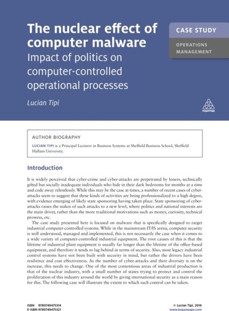 (ebook) Case Study: The Nuclear Effect of Computer Malware