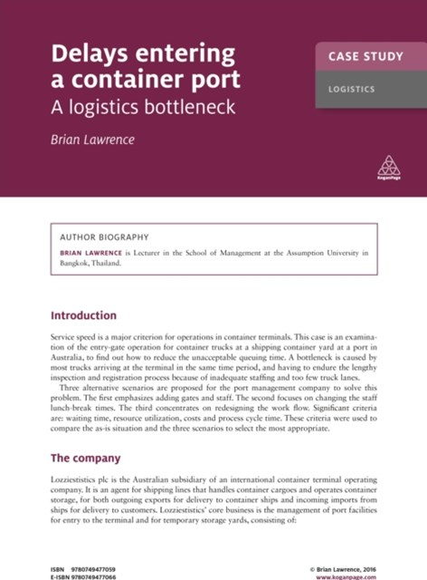 (ebook) Case Study: Delays Entering a Container Port