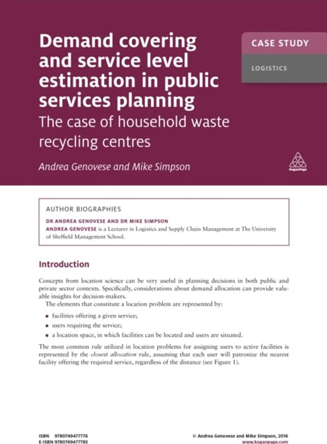 (ebook) Case Study: Demand Covering and Service Level Estimation in Public Services Planning
