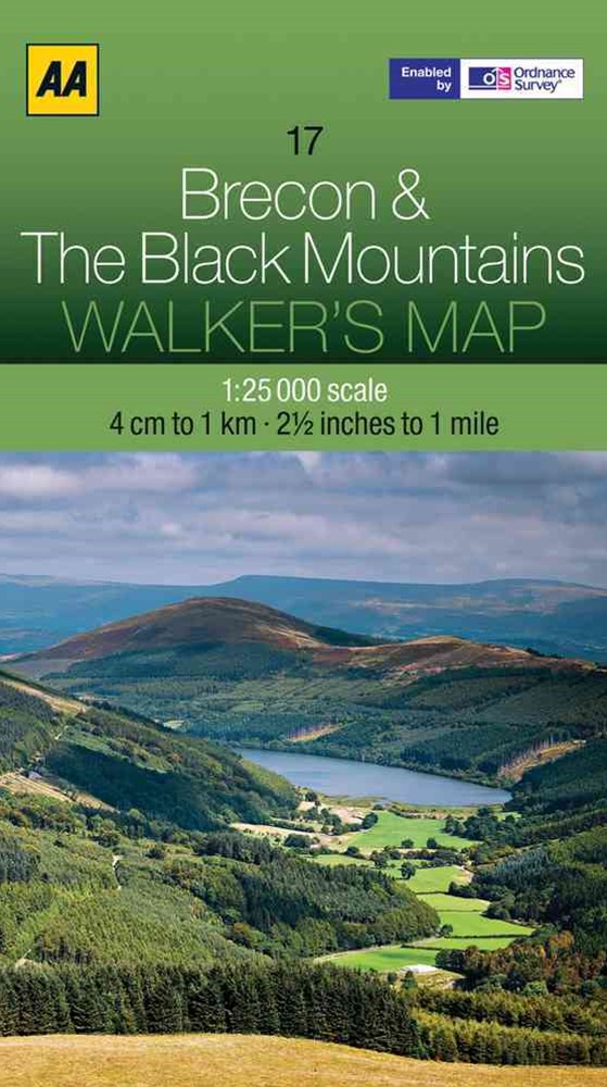 Aa Brecon & the Black Mountains Walker's Map