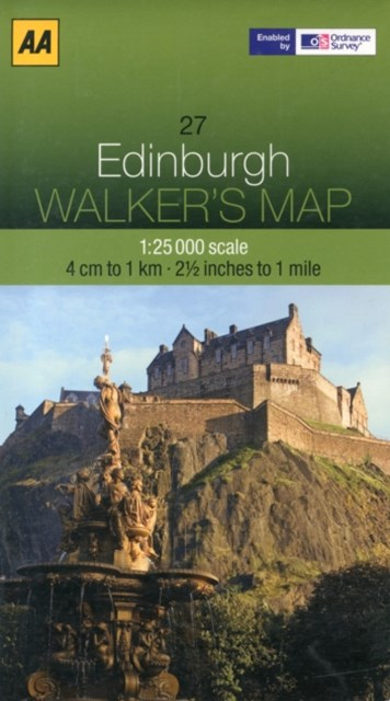 AA Walker's Map Edinburgh 27