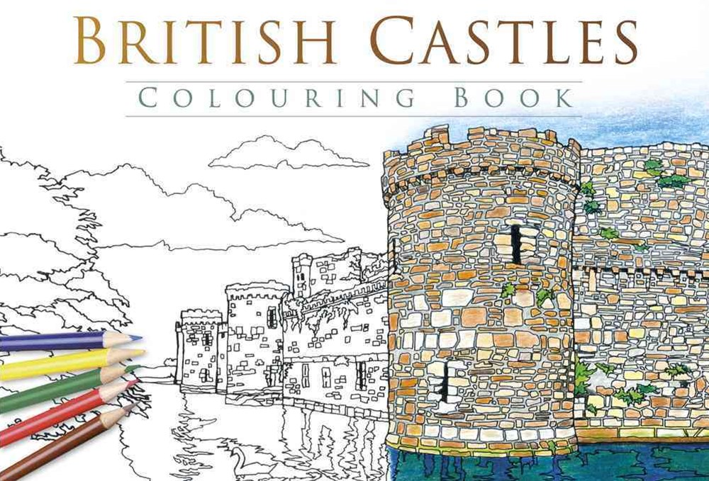 British Castles Colouring Book: Past and Present