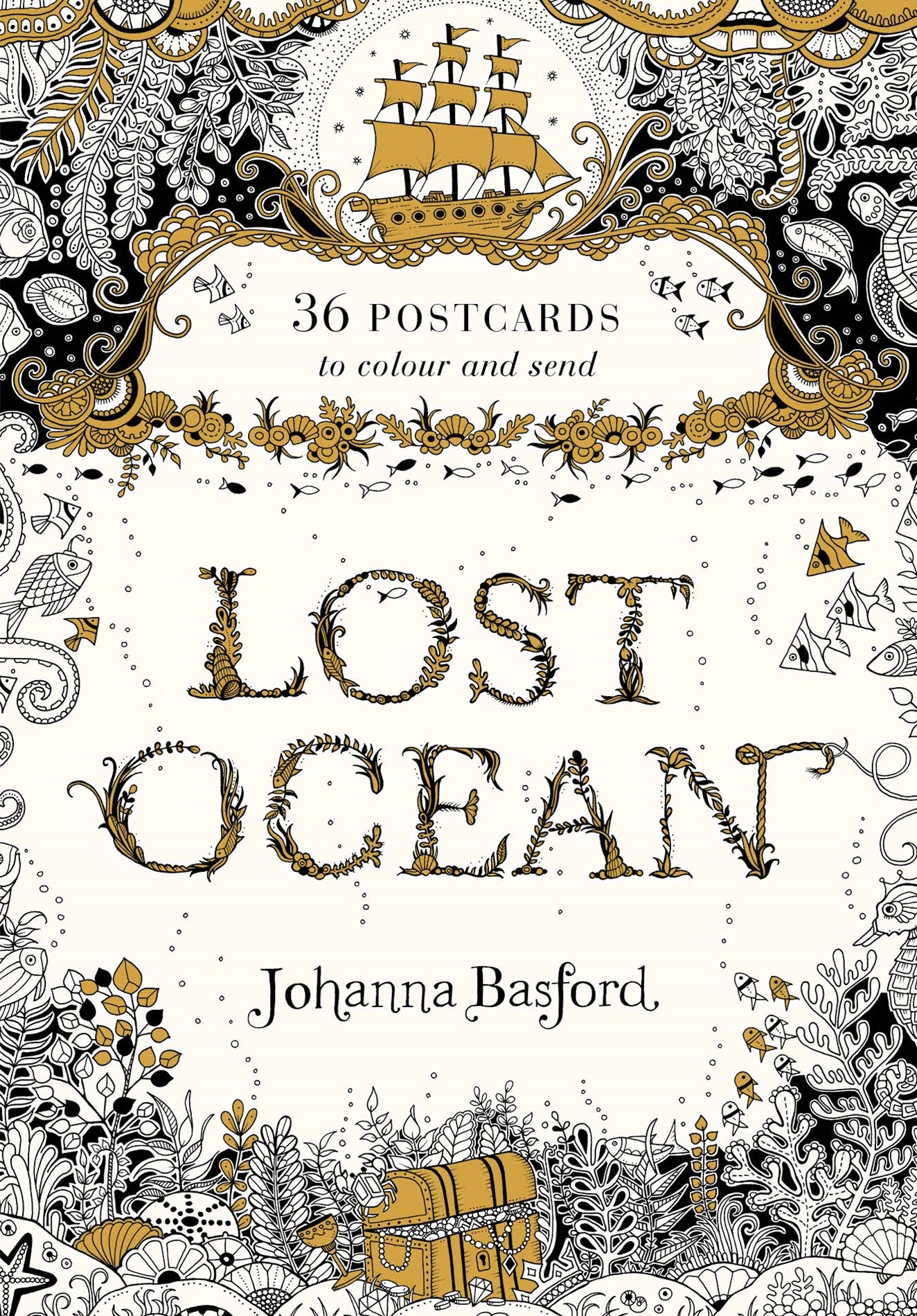 Lost Ocean Postcard Edition: 36 Postcards to Colour and Send