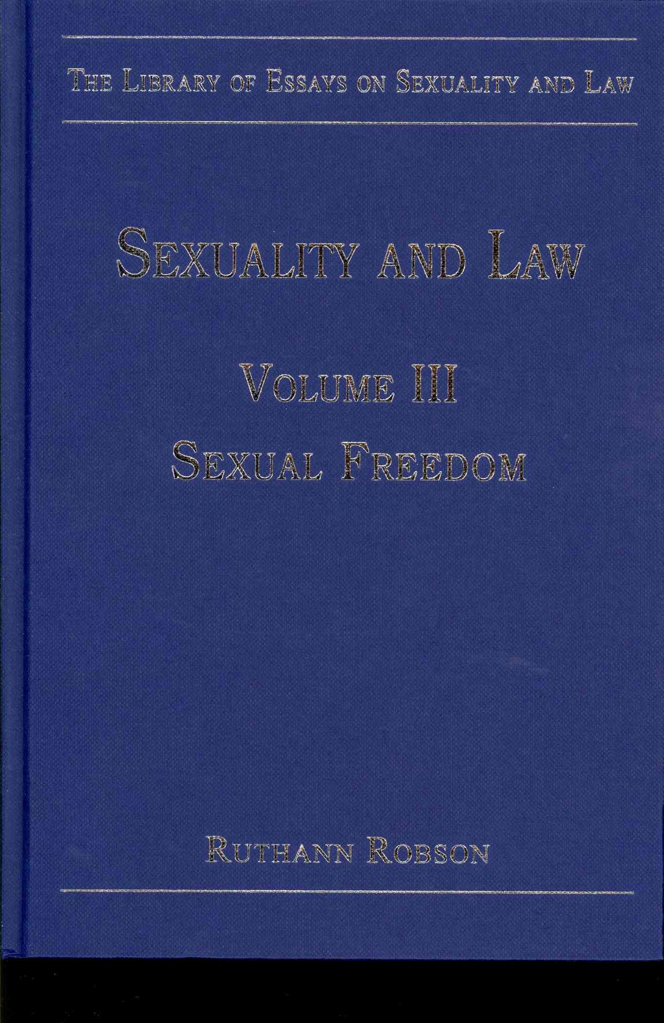 Sexuality and Law: Sexual Freedom