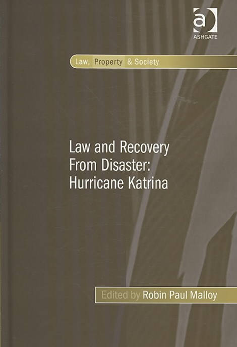 Law and Recovery from Disaster