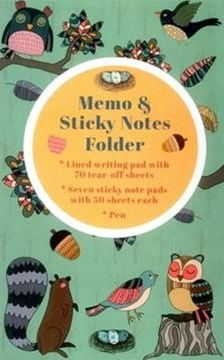 Memo & Sticky Notes Folder Woodland Creatures