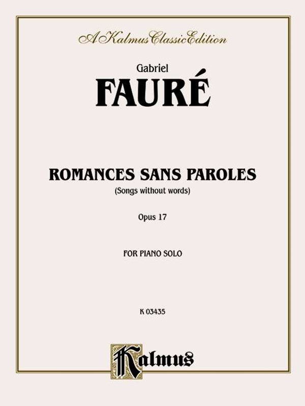 Romances Sans Paroles, Opus 17