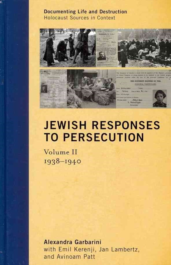 Jewish Responses to Persecution, 1938-1940