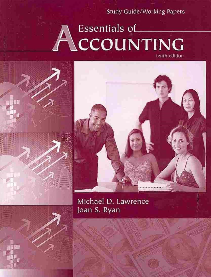 Essentials of Accounting, Study Guide / Working Papers
