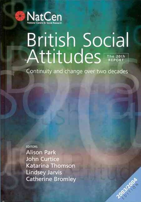 British Social Attitudes: 20th Report