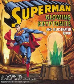 Superman: Glowing Kryptonite and Illustrated Book