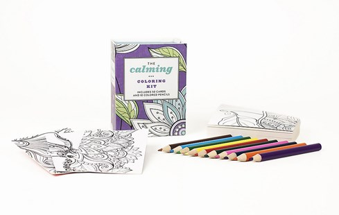 The Calming Colouring Kit (UK edition) by Press Running (9780762461370) - Novelty Book - Humour General Humour