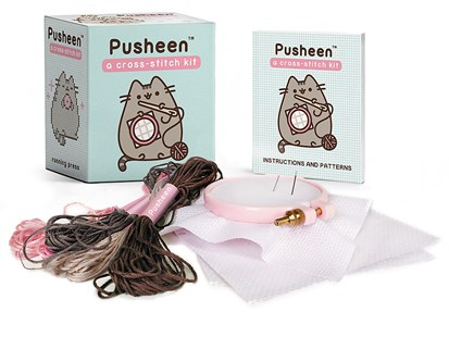 Pusheen: A Cross-Stitch Kit by Claire Belton (9780762492275) - PaperBack - Craft & Hobbies Needlework