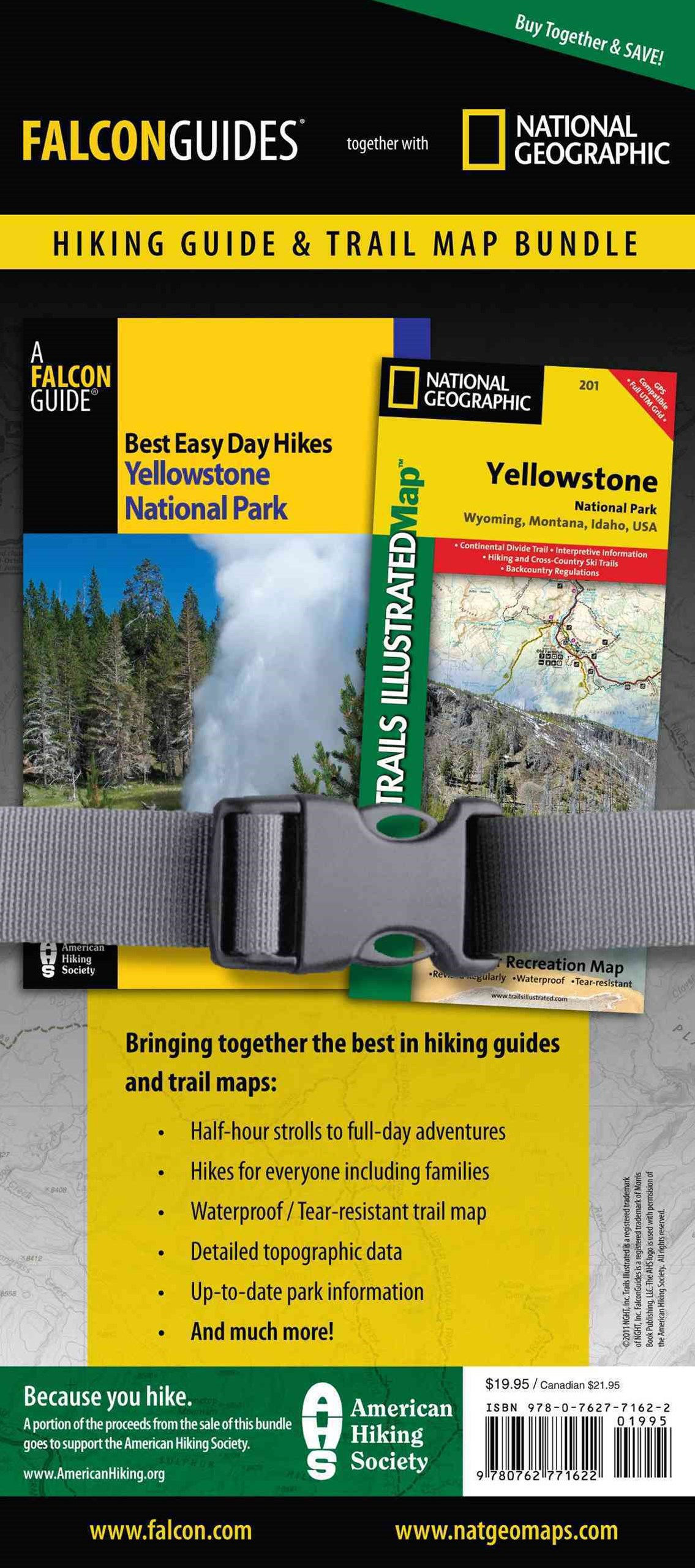 Best Easy Day Hiking Guide and Trail Map Bundle: Yellowstone National Park