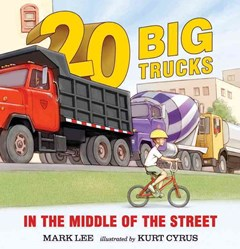 Twenty Big Trucks in the Middle of the Street