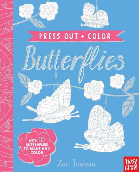 Press-Out and Color: Butterflies
