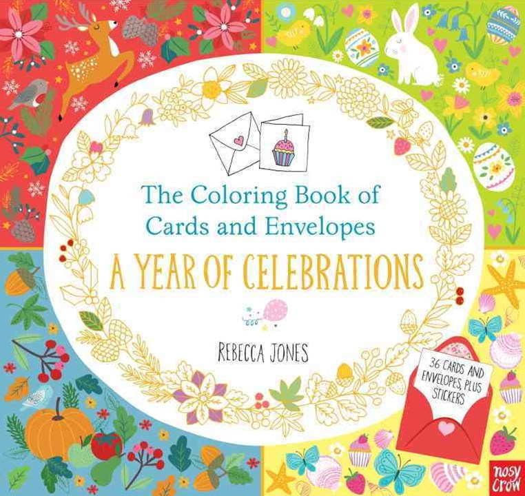 The Coloring Book of Cards and Envelopes: a Year of Celebrations