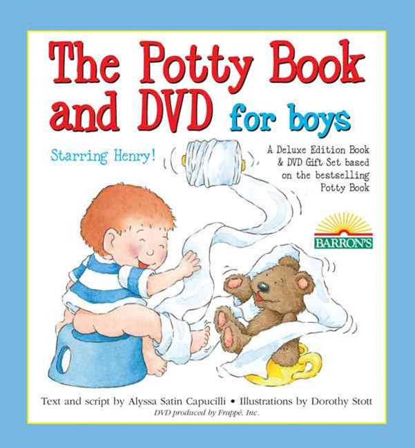 The Potty Book and DVD for Boys Starring Henry! Gift Set