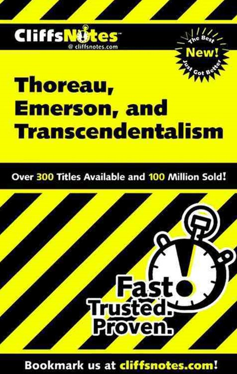 CliffsNotes Thoreau, Emerson, and Transcendentalism