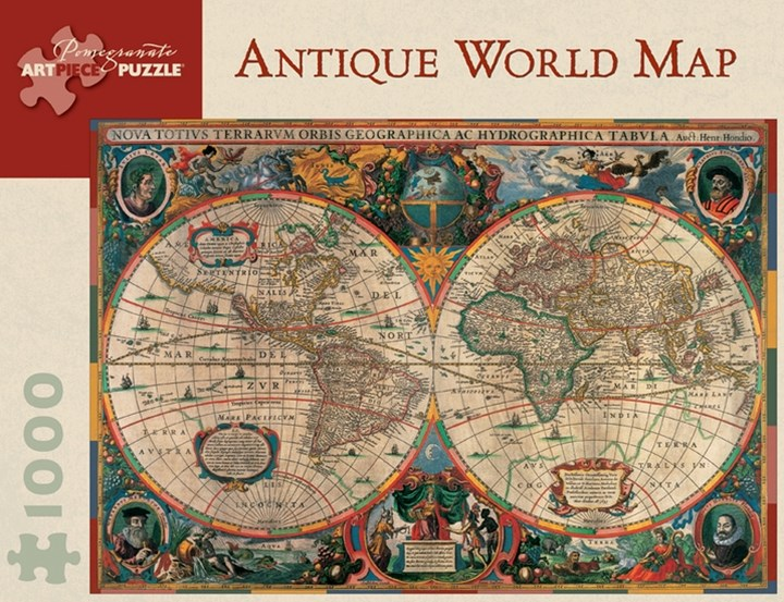 Antique World Map Jigsaw Puzzle (AA603)