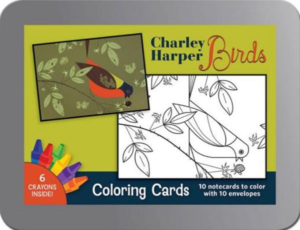 Charley Harper Birds Coloring Cards CC101