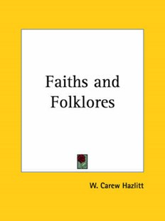 Faiths and Folklores by W Carew Hazlitt (9780766148086) - PaperBack - Social Sciences Sociology